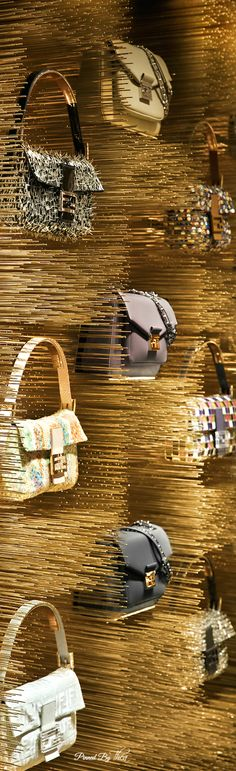 A great way to show off your product! ~Fendi flagship store Paris | House of Beccaria#