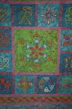 Zachary's Celtic Knot Quilt made by Larissa Gibbs