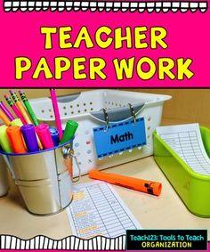 Teacher Tip: Paperwork, Grading, Organization