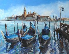 (SOLD) Venice Gondola Ng Woon Lam Singapore Modern Impressionist Oil Painting | Flickr - Photo Sharing!
