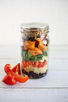 Make Lunches Easy This Year With Salads in Jars! - A Beautiful Mess