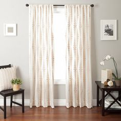 living room curtains. the print and color!