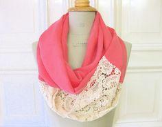 DIY refashion pink & lace