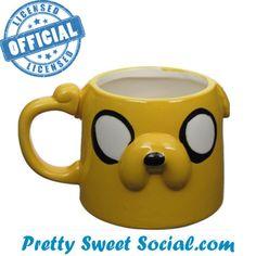 Random Sweet Stuff - Adventure Time Skulpted Jake Head Mug