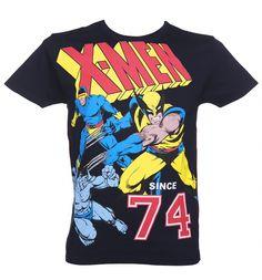 Men's Navy Marvel Comics X-Men Action T-Shirt