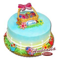 Happy Easter Basket, 1/4 Sheet Cake | Ambrosia Bakery