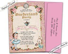 Alice in Wonderland First Birthday by CupidDesigns on Etsy