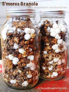 S'mores Granola - Great for snacking at home and on camping trips - without the mess