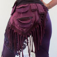 Purple Elf Pixie Wrap Pocket Belt, Psytrance, Indian Hippie Skirt, Handmade