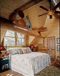 Log Home Decorating - Into Excellent decor. log home decorating bedrooms woods tips organized in category log home decorating bedrooms woods, shared on For more charming info press the link for the post example 8310494730 right now Log Home Bedroom, Home Bedroom Design, Wood Bedroom, Master Bedroom, Bedroom Decor, Bedroom Designs, Rustic Design, Rustic Decor, Log Home Decorating