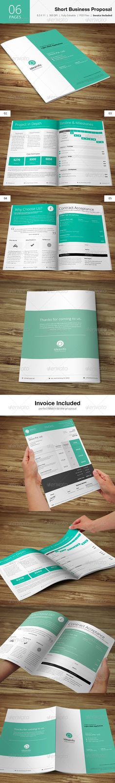 Short  Quick Business Proposal  - Proposals  Invoices Stationery