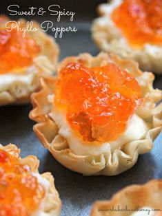 "Sweet and Spicy ""Phyllo Poppers"" {www.rhubarbandhoney.com}"