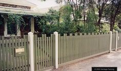 Heritage Fencing Gallery: Two up Two down in a flat top picket is pure Edwardian.