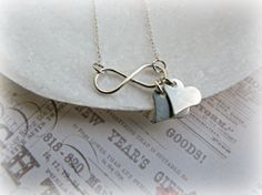 Infinity necklace Sterling silver infinity by HappyTearsbyMicah, $28.00