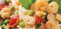Σαλάτα με μακαρόνια και γαρίδες Pasta Salad, Shrimp, Salads, Meat, Ethnic Recipes, Food, Crab Pasta Salad, Essen, Meals