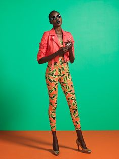 Vibrant Summer – Ajak Deng is tapped for Nasty Gal's July lookbook featuring colorful, youthful summer styles. Paul Trapani captures the Sudanese beauty in oversize t-shirts, sexy swimwear, see-through heels and cardigans matched with wild prints and vibrant hues styled by Ashley Glorioso. Leather accents matched with ladylike skirts walk the line between rebellious and elegant. / Makeup by Stacey Nishimoto