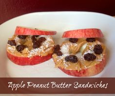 Afterschool Snack Recipe Apple Peanut Butter Sandwiches. My kids love these afternoon snacks