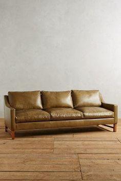 Anthropologie Leather Dorada Sofa