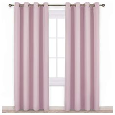 NICETOWN Blackout Curtains for Girls Room - Thermal Insulated Solid Grommet Room Darkening Curtains/Panels/Drape for Bedroom (Lavender Pink=Baby Pink, 1 Pair, 52 by Pink Kids Curtains, Pink Sheer Curtains, Kids Blackout Curtains, Layered Curtains, Home Curtains, Green Curtains, Room Darkening Curtains, Colorful Curtains, Light Blocking Curtains