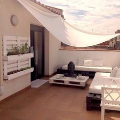 Ideas con palets: terraza exterior 6