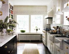 Color Outside the Lines: Kitchen Inspiration Month: Day 17 - Black and White Kitchens