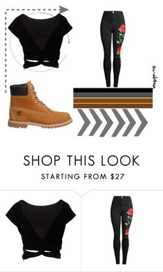 """""""Untitled #1398"""" by velvetgirl10 ❤ liked on Polyvore featuring Timberland"""