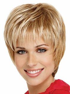 Eva Gabor Synthetic Wig Timeless - May 05 2019 at Short Hairstyles For Thick Hair, Short Straight Hair, Short Hair Cuts, Short Hair Styles, Short Wavy, Pixie Cuts, Undercut Hairstyles, Pixie Hairstyles, Pixie Haircut