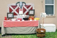 sheriff country farm theme party decoration idea