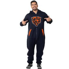 NFL Chicago Bears Klew Sport Suit - Navy