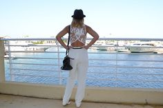 How to wear a white jumpsuit and the perfect place to wear it!