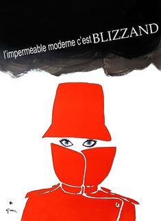 L'imperméable moderne c'est Blizzand by Rene Gruau