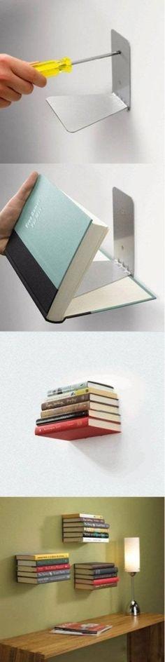 Invisible+book+shelf! 256×1,024 pixels