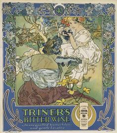 Mucha advertisement for Triner's Bitter Wine