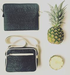 Shop Loren black vegan Diosa Ibiza bags made from the non-leather textile, Piñatex. This Pinatex pineapple leather bag comes with a fully adjustable strap. Sustainable Textiles, Sustainable Living, Vegan Leather, Leather Bag, Pineapple Leather, Ibiza, Eco Friendly Bags, Recycled Fabric, Design Thinking