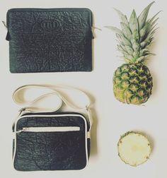 Pineapple leather. DiOsA Ibiza bag - Black Piñatex™ - Loren