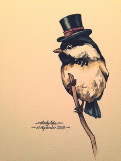 New series of Dapper little birds. I love drawing them.