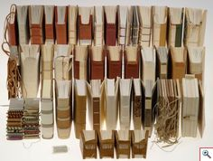 Models of historic bindings bound by Janosz Szirmai. To be found in the collection of the Koninklijke Bibliotheek (KB, Royal Library)