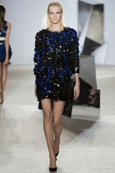. Valli Haute Couture Spring/Summer 2014, Pics + Runway Video  #blue #black
