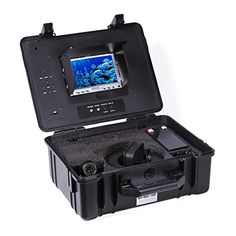 Wsdcam 7 Color LCD Monitor Fish Finder System 800tvl CCD Waterproof Camera Fishing 20m Cable Underwater Fishing Camera with Carry Case *** For more information, visit image link.