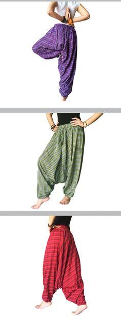 Linen Harem Pants Purple Baggy Trousers Casual Comfortable Cropped Yoga Pants aladdin pants purple Hippie Pants unisex shalwar Gypsy