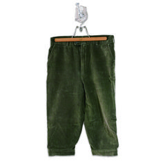 BALLO CORDUROY CROPPED PANTS-OLIVE Size: Italian 50 Made in ITALY