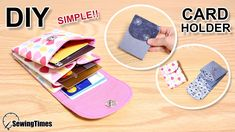Diy Wallet Easy, Simple Wallet, Sew Wallet, Card Wallet, Diy Wallet Card Holder, Pochette Portable Couture, Patchwork Quilt, Birthday Gifts For Teens, Teen Birthday