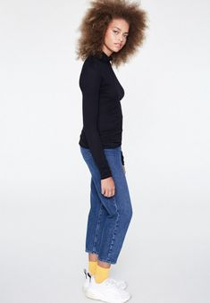 Long Sleeved - Tops & T-Shirts - Women Herren Style, Herren Outfit, Longsleeve, Mode Online, Models, Fashion Company, Skinny Fit, Long Sleeve Tops, Capri Pants