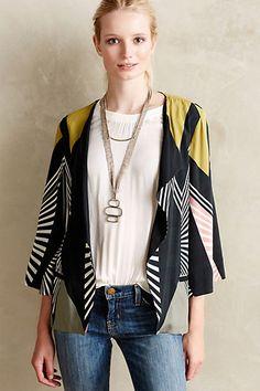 Geo Kimono Blazer - anthropologie.com #anthrofave