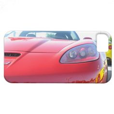 Red Corvette Z06 Front Hood and Headlight iPhone 5 iPhone 5 Cover...