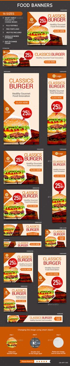 Food Banners Template #design Download: http://graphicriver.net/item/food-banners/11886467?ref=ksioks