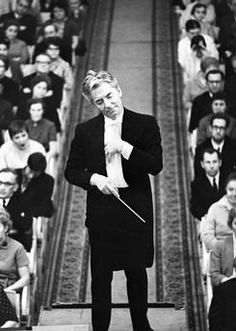 Austrian conductor Herbert von Karajan, during a concert. Leningrad Philharmonic (today, St. Petersburg Academic Philarmonic named after Dmitry Shostakovich), 1969. AKG1186556 © akg-images / RIA Nowosti