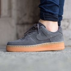 Nike Grey Suede Air Force 1 Sneakers •The Nike Air Force 1 '07 Suede Women's Shoe revamps the 1982 basketball original with a low profile and perforated suede upper for a streamlined look and ventilated comfort.  •Women's size 7, these run a half size large and would be best for a 7.5.  •New in box (no lid.)  •NO TRADES/PAYPAL/MERC/VINTED/NONSENSE.  •PLEASE USE OFFER FEATURE IF YOU WANT TO NEGOTIATE PRICE. Nike Shoes Sneakers