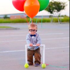 makes your ovaries smile. Baby in costume from the movie UP!