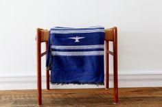 by 3191 - blue tribal design textile